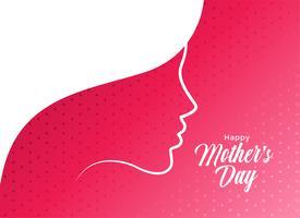 conception d'affiche élégante fête des mères heureux