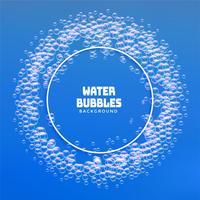 vatten bubblor eller tvål skum ram bakgrund