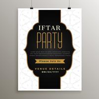 ramadan kareem iftar party kort design