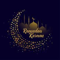 dekorativa måne design ramadan kareem bakgrund