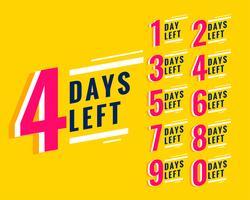 nombre de jours restants bannière pour vente et promotion