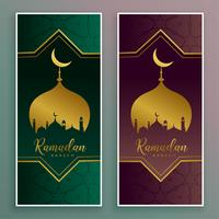 ramadan kareem luxurious golden banner design