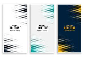 abstracte reeks halftone banners