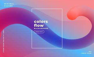awesome abstract fluid shapes background