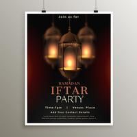 Ramadan Kareem Iftar Party Feier Kartendesign