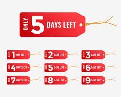 aantal dagen verlaten rode tagbanner