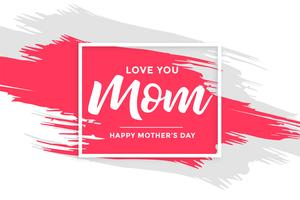 abstract mother's day background with paint brush stroke