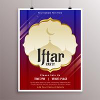 arabisk stil iftar party inbjudningskortdesign