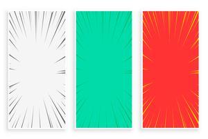 set di banner di linee di zoom comico