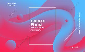 Fondo de forma fluida abstracta en colores duotono
