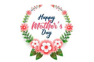 feliz día de la madre fondo de flores