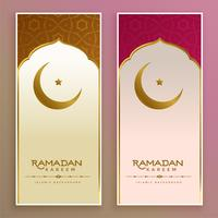 ramadan kareem or eid banner with moon and star