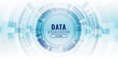bannière de concept technologique technologie de visualisation de données futuriste