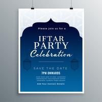 Iftar Party Feier Kartendesign
