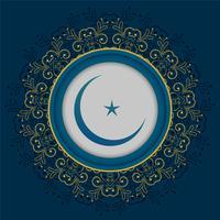 projeto decorativo da lua e da estrela da mandala islâmica