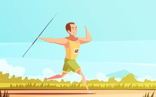 Javelin Thrower Outdoor Composition