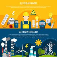 Electric Appliances And Power Generation Banners