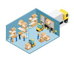 Warehouse Inside Isometric Composition