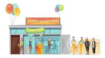 Ilustração de reunião de caridade