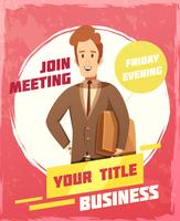 Cartaz da reunião de negócios