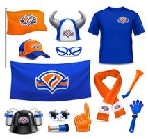 Sport Supporters Fans  Accessories Realistic Set