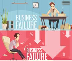 Business Failure 2 Retro Cartoon Posters