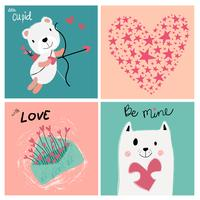 carte de Saint Valentin amour pastel vintage