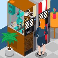 Koffie machine isometrische concept