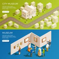 Urban Museum Banners Set vector