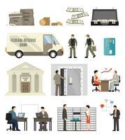 Set di operazioni bancarie piatte
