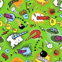 Arrière-plan transparent moderne de bandes dessinées colorées