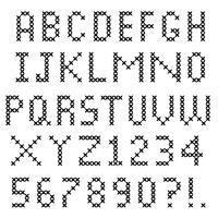 schwarzes Kreuzstich-Alphabet