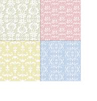 seamless pastel damask patterns