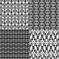 black and white damask patterns