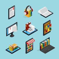 Insieme isometrico di libri online