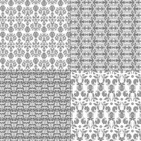 pastel grey and white damask patterns