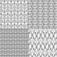 motifs damassé gris et blanc pastel