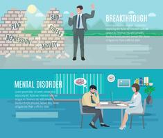 Mental health banners vector