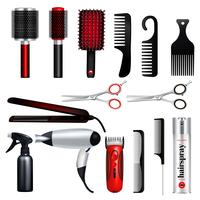 Salon de coiffure Big Icon Set