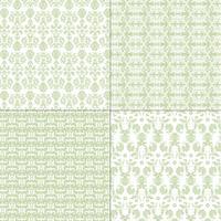 motifs pastel damassé de vert et de blanc