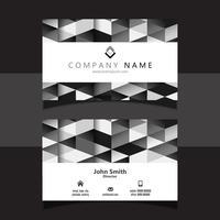 Design geometrico biglietto da visita