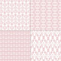 pastel pink and white damask patterns