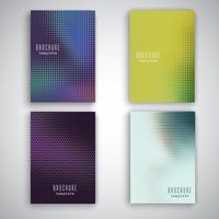 Plantillas de folleto con diseño de puntos de semitono.