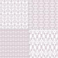 pastel purple and white damask patterns