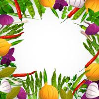 Vegetables And Spices Background