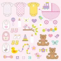 baby girl vector graphics clipart