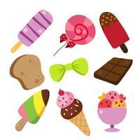 Dessert-Vektor-Sammlung Design