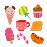 disegno vettoriale di dessert