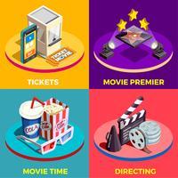 concept de design de temps de film