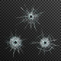 Bullet Holes Template vector
